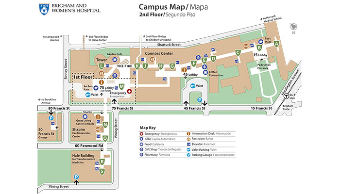 BWH Main Campus Map