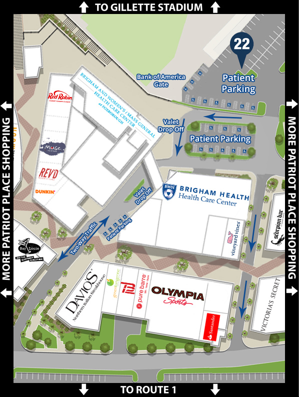 Patriot Place Map   Brigham and Women's Hospital