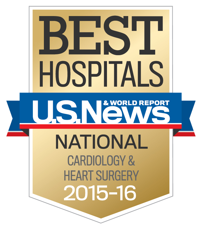 The Heart & Vascular Center U.S. News & World Report badge.