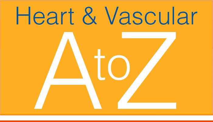 The Heart & Vascular Center A to Z listing.