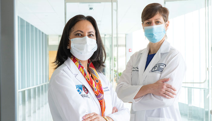 Two doctors with masks