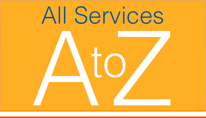 View an A to Z listing of services available at Brigham and Women's Hospital.