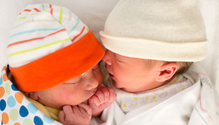 Twins cared for in NICU