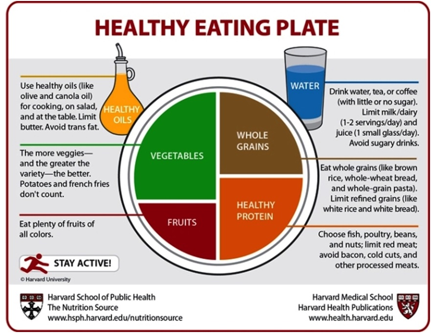 Healthy Eating Plate from Harvard School of Public Health